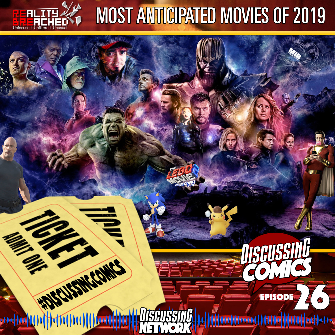 Reality Breached and Discussing Comics 2019 Most Anticipated Movies